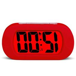 Hersent Large Digital Display Alarm Clock and Snooze Night L