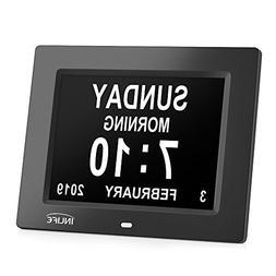Large Display Digital Calendar Clock,INLIFE Impaired Vision