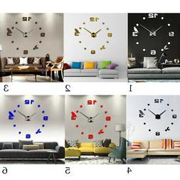 DIY Mirror Decal WALL CLOCKS for Home, Dining Room, Kitchen,