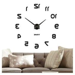 Vangold DIY Wall Clock Large 3D Frameless Clocks for Living