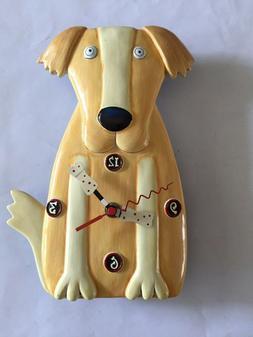 ALLEN DESIGNS Dog Clock Bone Hands Wall Clock Quartz HD-1688
