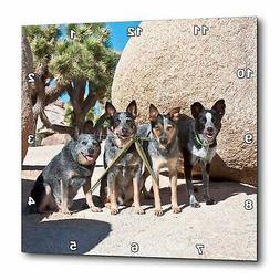 3dRose DPP_88792_2 Four Australian Cattle Dogs - US05 ZMU010