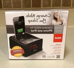 RCA Dual Alarm Clock iPod/iPhone Charging Station w/ Digital