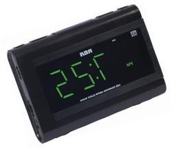 RCA Dual Wake Clock Radio with USB Charging