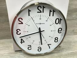 Easton Brushed Metal Wall Clock with White Arabic Numeral Di