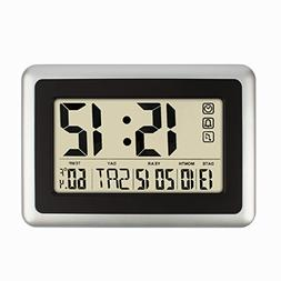 HIPPIH Electronic Alarm Clock - Full Digital Calendar Wall C