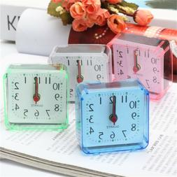 Electronic Alarm Clock Battery Silent Home Desk Table Bedsid