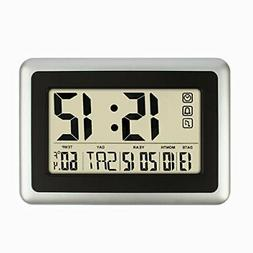 HIPPIH Electronic Alarm Clock - Full Large Digital Calendar