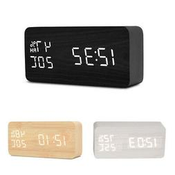 Electronic Living Room Wood Temperature And Humidity Table D
