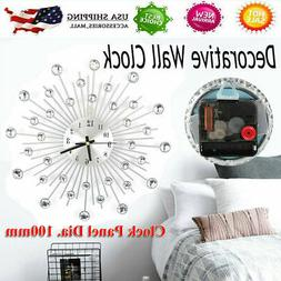 Elegant Luxury Diamond Large Wall Clocks Metal Living Room W