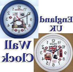 ENGLAND Wall Clock UK Great Britain London United Kingdom Ma