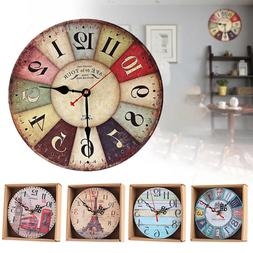 EP_ Home Room Antique Decor Wall Clocks Decoration Clock Sha
