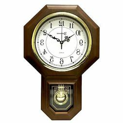 Timekeeper Essex Westminster Chime Faux Wood Pendulum Wall C