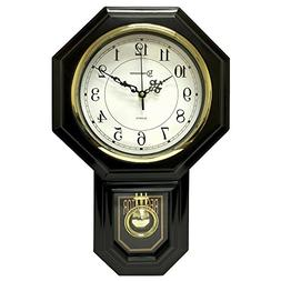 Timekeeper Essex Westminster Chime Pendulum Wall Clock, 17.5