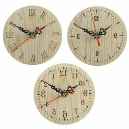 European And American Retro Round Wooden Small Clock Wall Cl
