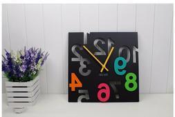 Fashion Hanging Wall Clock Modern Design 3D Novelty Silent F