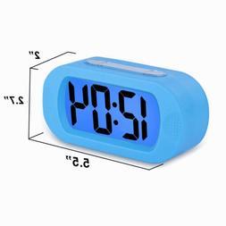 Fashion Silicone LCD Digital Alarm Clock Snooze Night Light