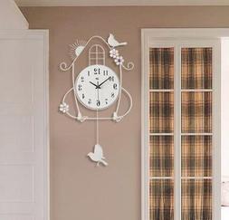 Fashion Wall Clock Bird Design Digital Watches Home Decor Qu