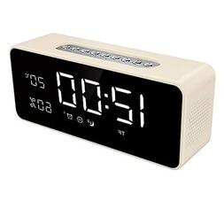 """FM Radio Alarm Clock with 8"""" Dimmable Large LED, USB Charger"""