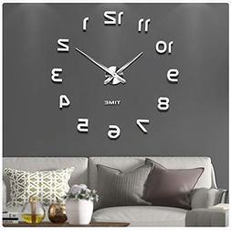 Vangold Frameless DIY Wall Clock, 2-Year Warranty 3D Mirror
