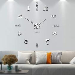 Vangold Large DIY Wall Clock, 2-Year Warranty Modern 3D Wall
