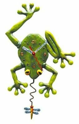 Allen Designs Frog Fly Clock New/Boxed as Wall with Dragonfl