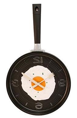 Frying Pan with Fried Egg Shaped Wall Clock, Shabby Chic, Ki
