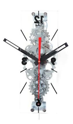 Maples Clock GCL06-78 22 in. x 8 in. Large Moving Gear Wall