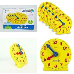 Learning Resources Gear Clock 4 Inch Set Of 6 Hidden Gears M