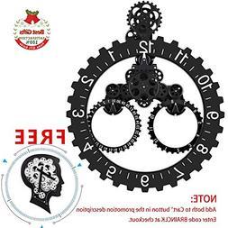 SevenUp Gear Clock Wall-Premium Plastic and Metal Parts Mate