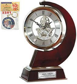 AllGiftFrames Large Gear Da Vinci Desk Clock Which Rotates 3