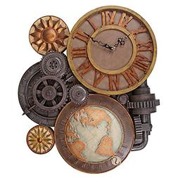 LARGE GEARS OF TIME CLOCK DESIGN TOSCANO steampunk  steam pu