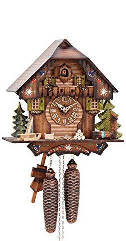 German Cuckoo Clock 8-day-movement Chalet-Style 13 inch - Au