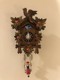German Black Forest Cuckoo Clock Quartz Movement Trenkle Uhr