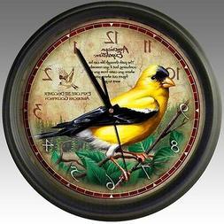 goldfinch 16 inch wall clock wclk 143