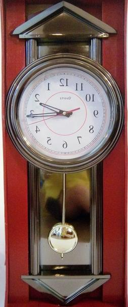 grandfather pendulum battery wall clock w chimes