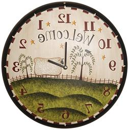 Your Heart's Delight Grazing Sheep Wall Clock, 16-Inch