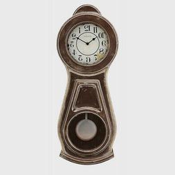 "Bulova C1518 Guilford Chiming Wall Clock, 19"", Brown"