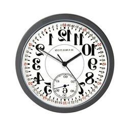 CafePress Hamilton Railroad Pocket Watch Wall Clock