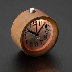 Handmade Classic Small Round table Snooze beech Wood Alarm C