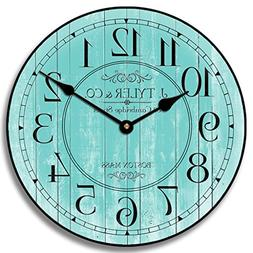 Harbor Turquoise Wall Clock, Available in 8 Sizes, Most Size