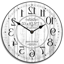 Harbor White Wall Clock, Available in 8 sizes, Most Sizes Sh