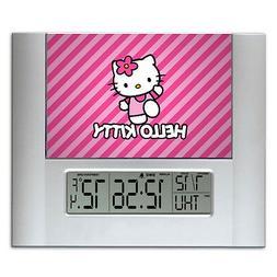 Hello Kitty Digital Wall Desk Clock with temperature + alarm