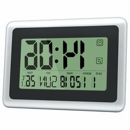 HeQiao Digital Wall Clocks Large Decorative Silent Desk Batt