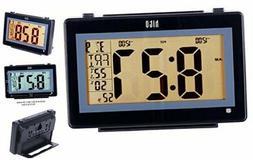 "hito 6.3"" Large Digital Battery Atomic Alarm Clock Desk Wall"