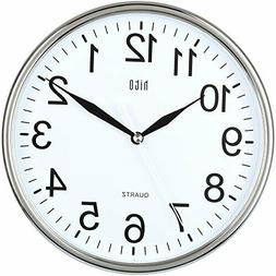 hito Silent Wall Clock Non Ticking 10 inch Excellent Accurat