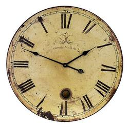 "IMAX Home 2511 23"" Large Wall Clock with Pendulum, N/A"