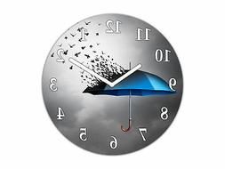 Home Décor Glass Wall Clock – Silent Wall Clock K10 Flyin
