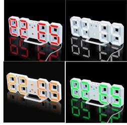Home Decoration 3D LED Wall Clock Modern Digital Alarm For K