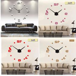 Home Decoration Modern Wall Clock DIY Black Cat Bird Quartz